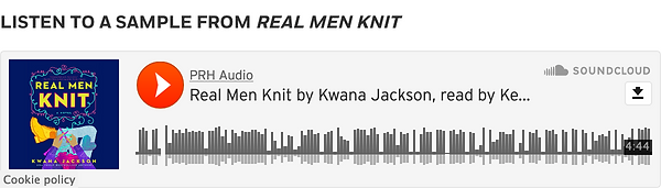 Click to Listen to a Sample of Real Men Knit by Kwana Jackson