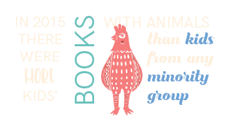 In 2015 there were more kids' books with animals than kids from any minority group