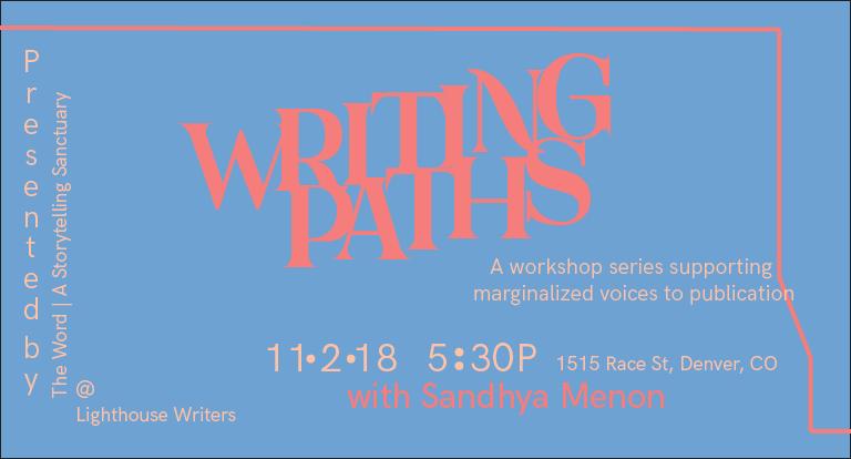 Writing Paths Publishing 101 with Sandhya Menon
