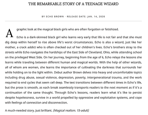 Image of Kirkus Review for Black Girl Unlimited