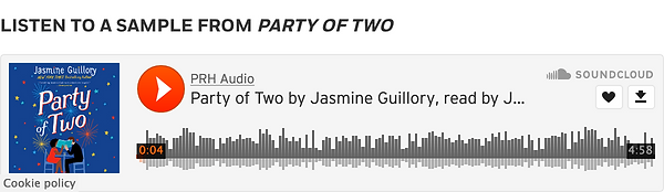 Click to Listen to a Sample of Party of Two by Jasmine Guillory