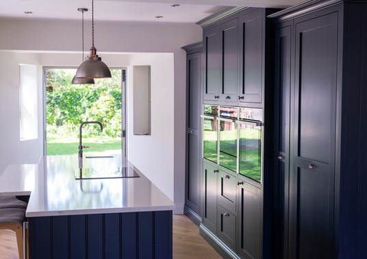 Dark Blue Inframe Kitchen
