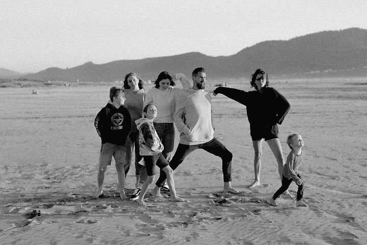 The Friess Family on the Beach in 2020