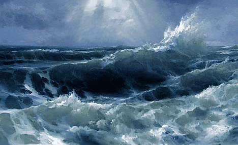 Стихотворение - Шторм на море