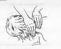 Рейки – Схемы наложения рук. Положения на спине