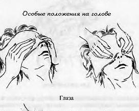 Рейки – Схемы наложения рук. Глаза