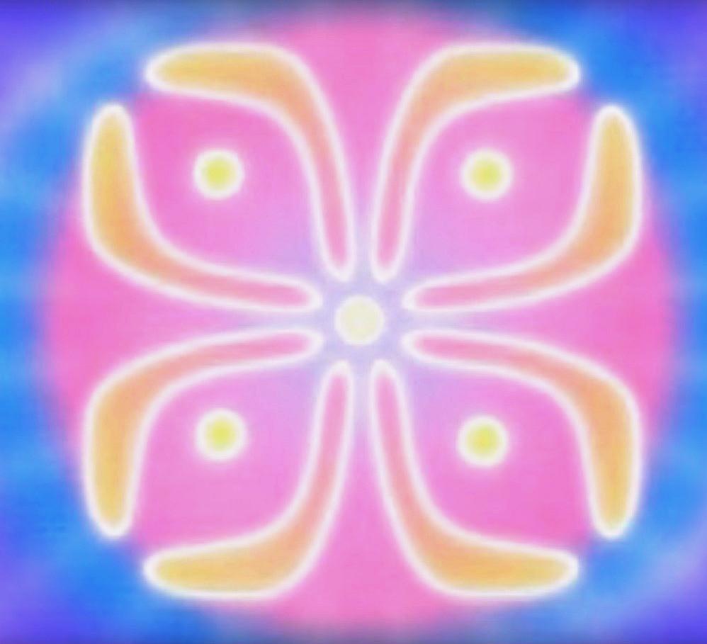 46. Наземные Миры. Цвет: Бирюзовый, Светло-золотой и Светло-розовый.  Природа: Интегрирующий