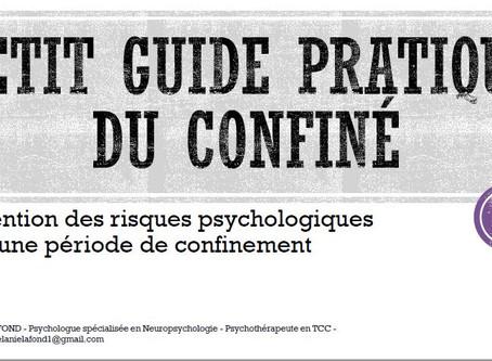 Petit Guide Pratique du Confiné de Mélanie LAFOND (AFTCC)