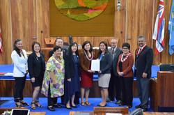 Liz Fujii and Maui County Council