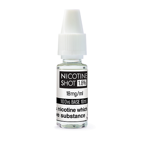 Nicotine Shot 18mg 100%vg