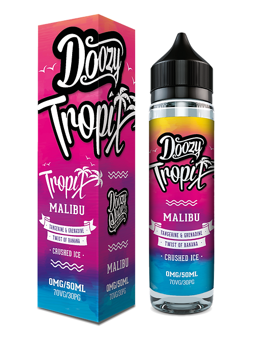 Doozy Vapes Tropix MALIBU 50ml 70/30 VG PG 0mg