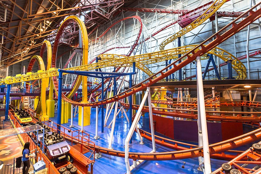 Mind Bender Roller Coaster - West Edmonton Mall