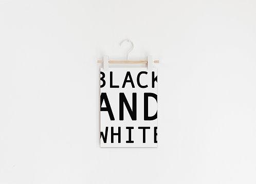 Art Print Black and White