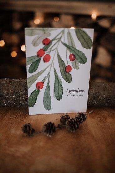 """Hyggelige Weihnacht Karte """"Weihnachtsbeeren I"""""""