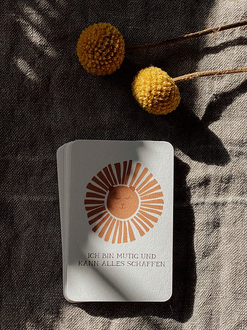Pocket Cards 12er Set aller Affirmationen