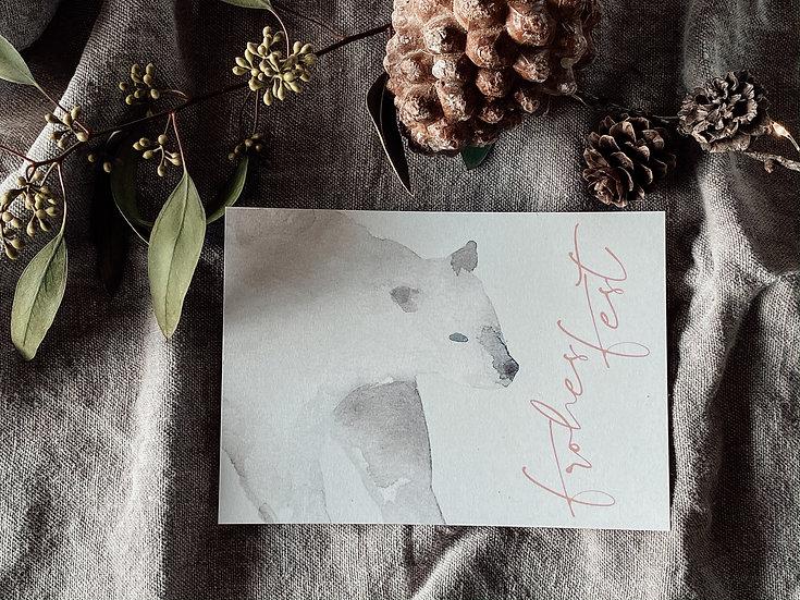 Weihnachtskarte Eisbär 3