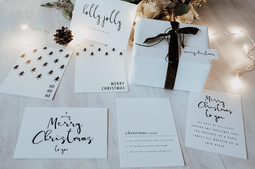 """Kartenset """"Black & White Weihnacht"""""""