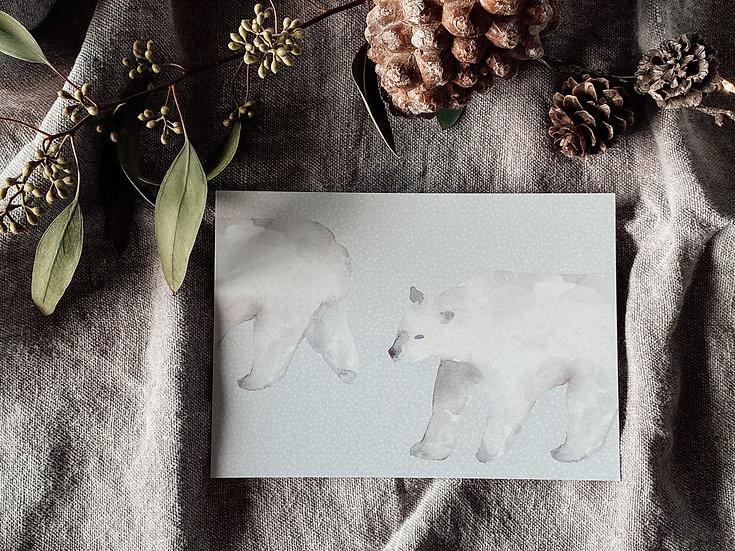 Weihnachtskarte Eisbär 2