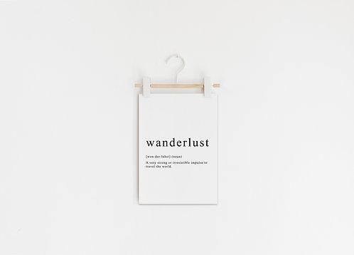 Art Print Wanderlust