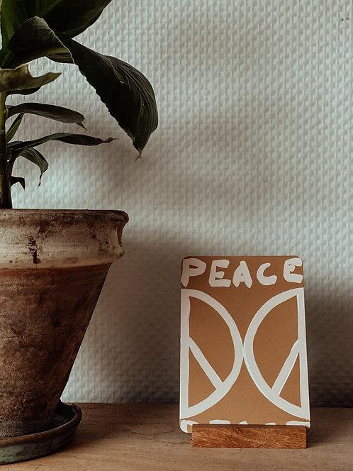 """""""PEACE"""" Postkarte Earth & Peace"""