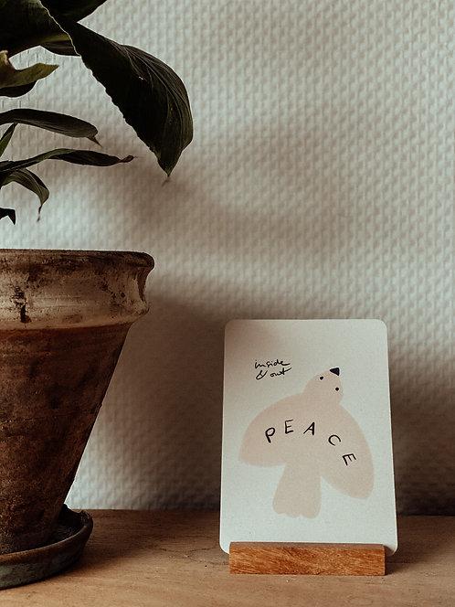"""""""Peace inside & out"""" Postkarte"""