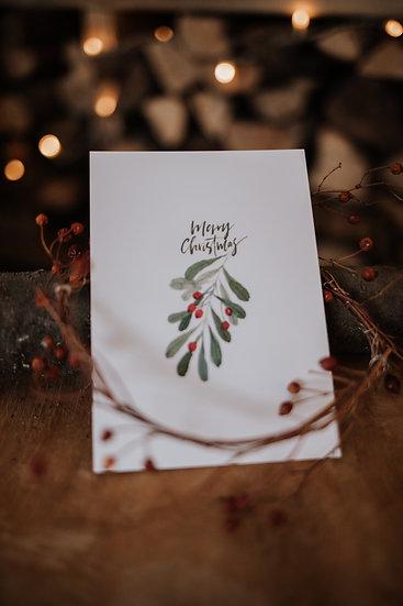 """Hyggelige Weihnacht Karte """"Weihnachtsbeeren II"""""""