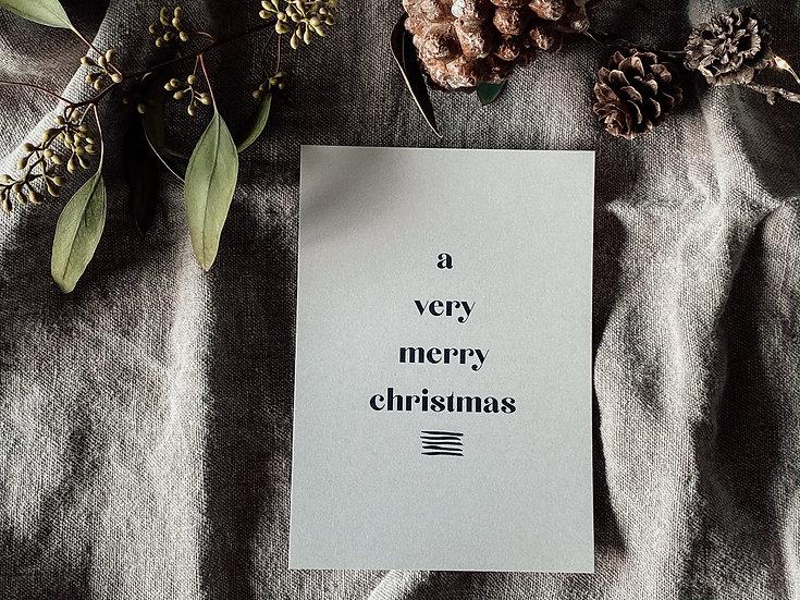 Weihnachtskarte Letter 3
