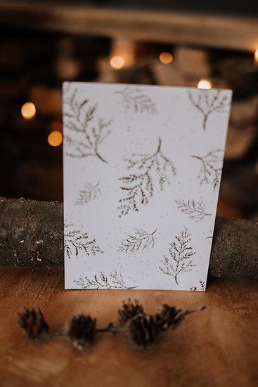 """Hyggelige Weihnacht Karte """"Zweige"""""""