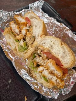 Fried Fish & Crab Poboy