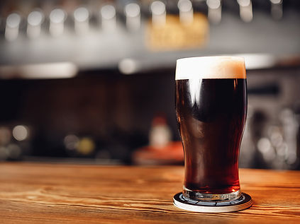 Close-up of pint on a bar