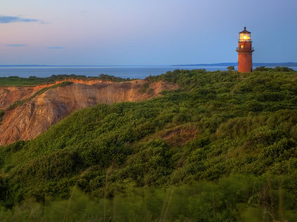 A lighthouse on the New England coast