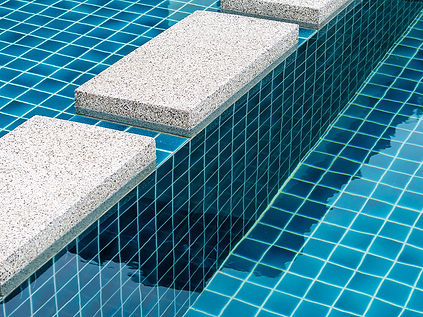 Close up of pool