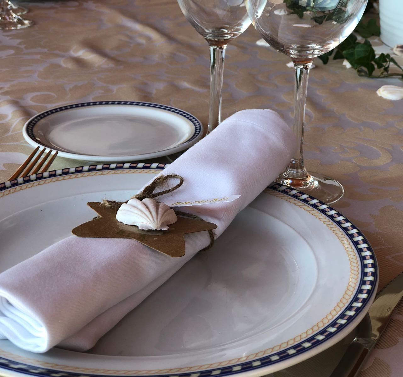servilletas ya en la mesa