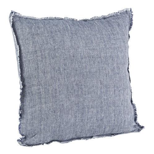 Cojín  Fringes Azul  algodón 45x45