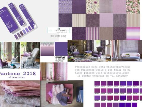 El color del año 2018: Pantone Ultraviolet 18-3838 TCX. ¡¡¡El color violeta al poder!!!