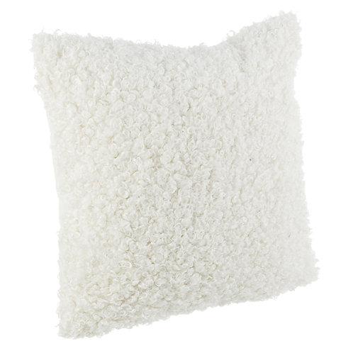 Cojín Curly Blanco 45x45