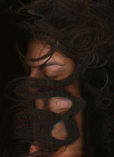 Laura Mirebeau, self portrait