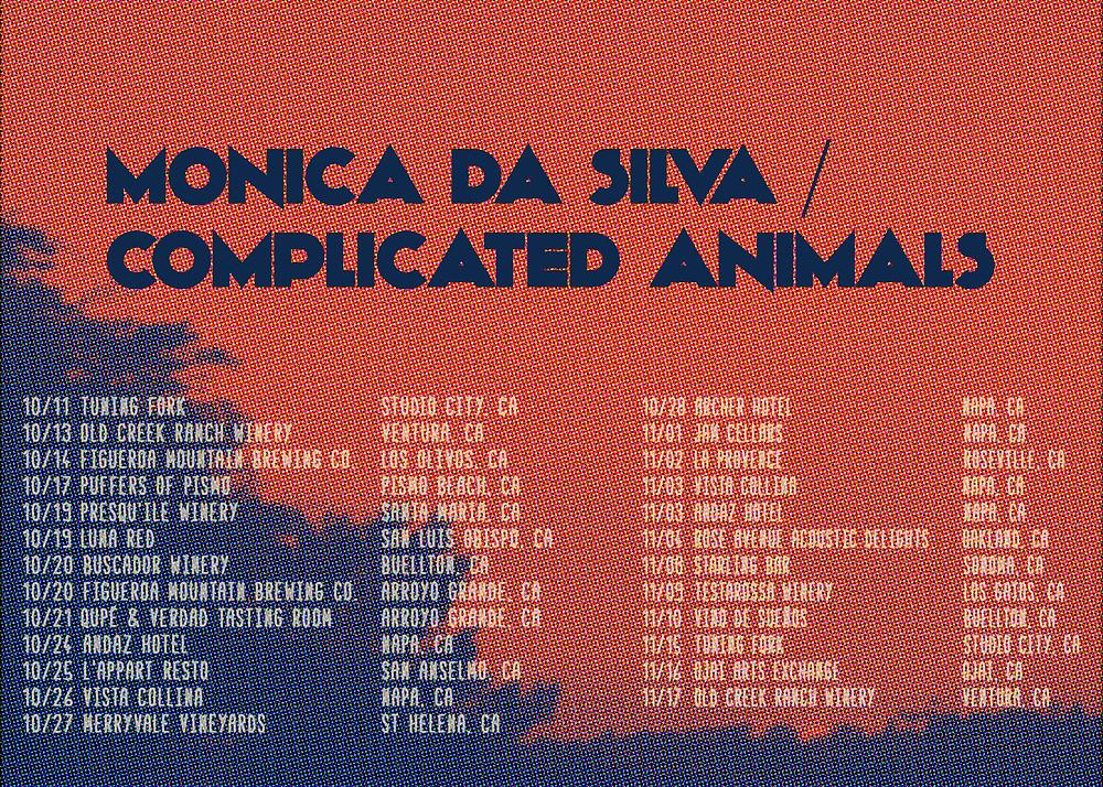 Monica da Silva and Complicated Animals Live Music Tour Dates Poster