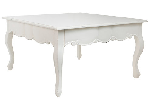 French White Coffee Table Angle View