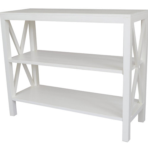 White Console Table Side View