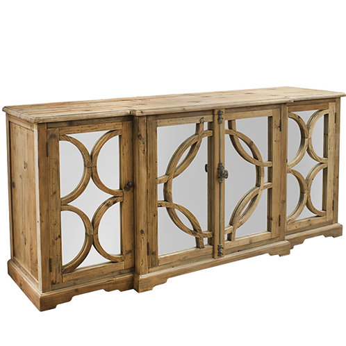 Mirrored Sideboard Buffet Side View