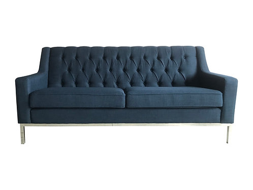 French Navy Sofa Front View