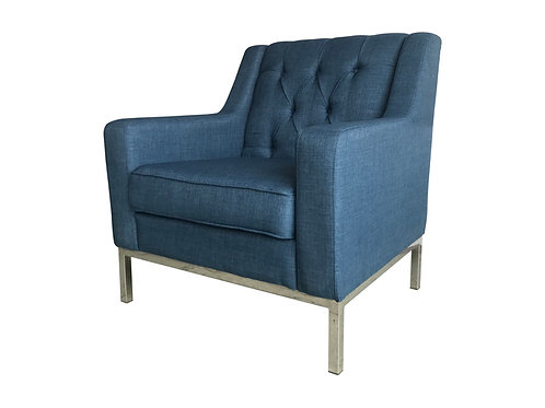 Blue Elegant Armchair Side View