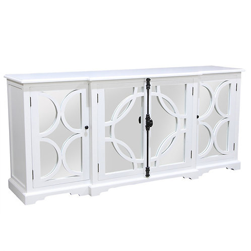 White Sideboard Buffet Side View