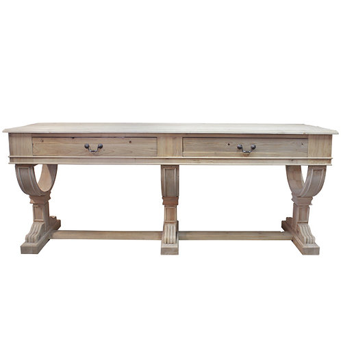 Large 2 Drawer Console Front View