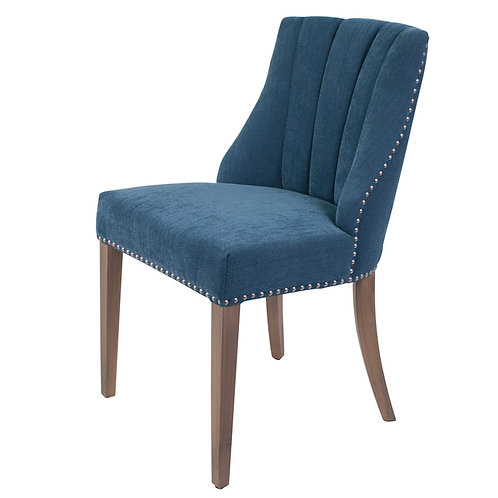 Blue Accent Dining Chair Angle View