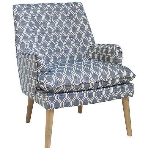 Patterned Armchair Angle View