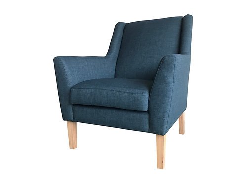 Blue Armchair Angle View