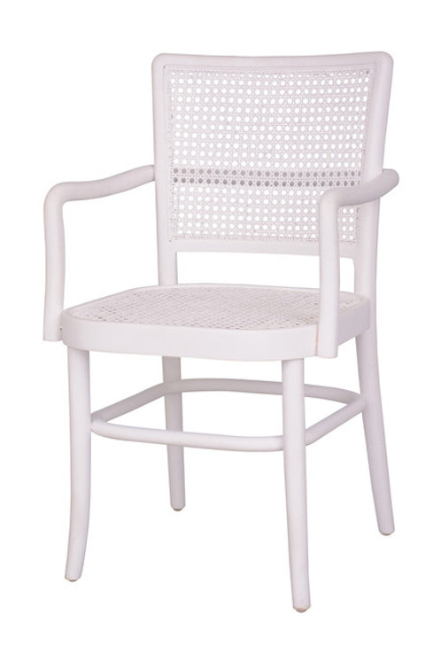 Palm Armed Rattan Dining Chair