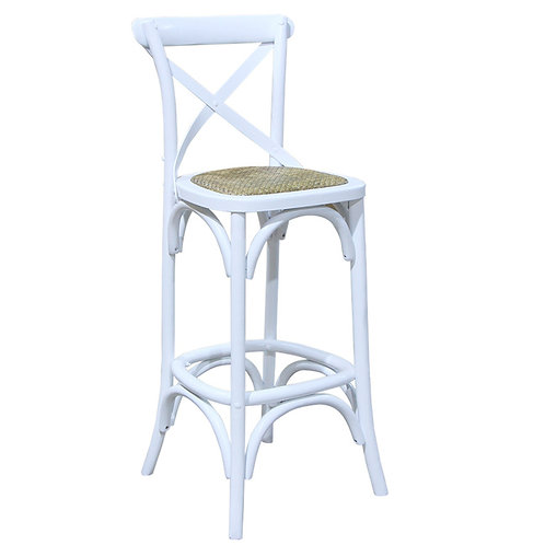 White French Bar Stool Side View